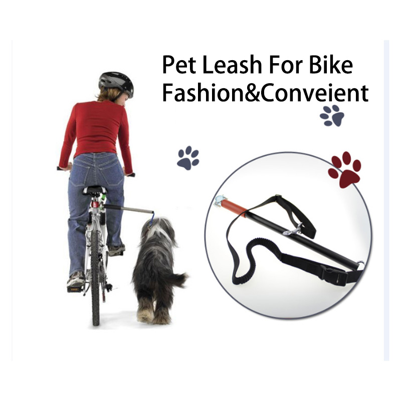 Hot Sale Dog Bicycle Traction Belt Pet BikeTraction Rope Bike Exerciser Leash Attachment Hands Free Dog Bike Leash ...