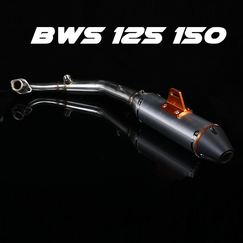 Мотоцикл выхлопная труба глушитель средний звено трубы средней части переходник для трубы Ямаха БВС 125 150 ZUMA125 YW125 лебедь x ЅМАКС.