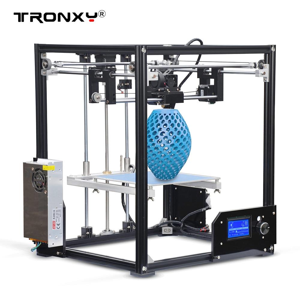 High Precision Tronxy X5 DIY 3D Printer Kits Large Printing Size 210 210 280mm LCD12864 Screen