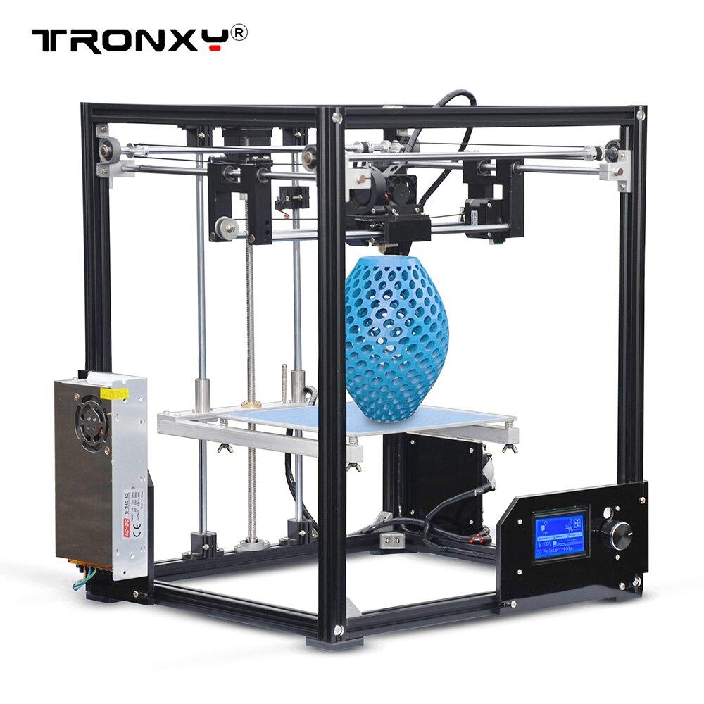 高精度 Tronxy X5 DIY 3D プリンタキット大型印刷サイズ 210*210*280 ミリメートル LCD12864 画面金属フレーム  グループ上の パソコン & オフィス からの 3D プリンタ の中 1