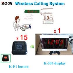 System przywoławczy bezprzewodowy cyfrowy Ccreens i tabeli połączenia brzęczyki kelnerka wywołanie systemu