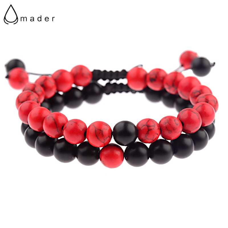 Amader 5 Colors Couple Bracelets For Lovers Charm Stone Beads Distance Weave Bracelets Femme Men&Women Jewellery Grace ABK023