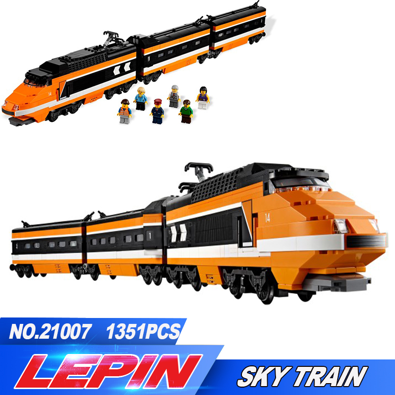 DHL lepin 21007 1351Pcs Out of print, the sky train Model Building Kits Blocks Bricks Toys Compatible legoed With 10233