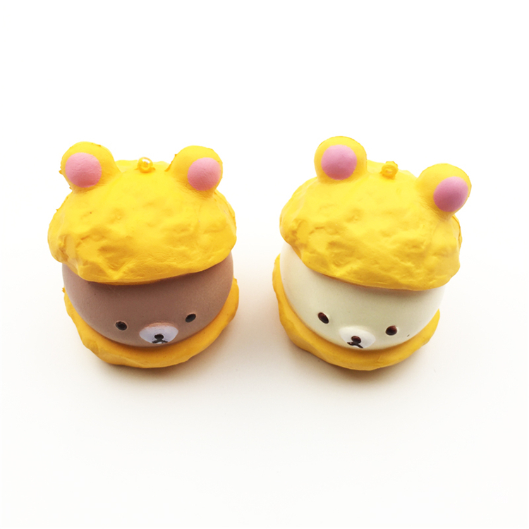 Collectibles Free Shipping 5cm Original Kawaii Squishy Rilakkuma Macaron Cake Queeze Toys Cell Phone Handbags Straps Squishies Bread