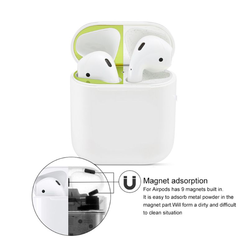 Dust proof Dust Guard Earphone Protection Ultra Thin Metal Protective Sticker for Apple Airpods in Smart Accessories from Consumer Electronics