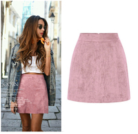 60 Colors spring and autumn Customize Size 3XS 10XL Sexy Mini high waist skirt RETRO suede skirts pink red brown black purple