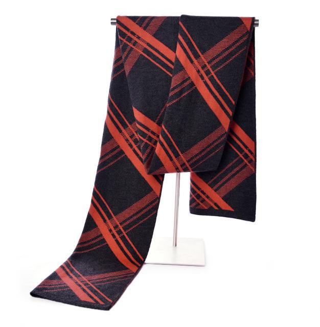 Marca de moda de Invierno Bufanda Larga de Los Hombres al estilo Indio Collar de Imitación de la Cachemira de Pashmina Bufanda A Cuadros Engrosamiento Caliente Foulard