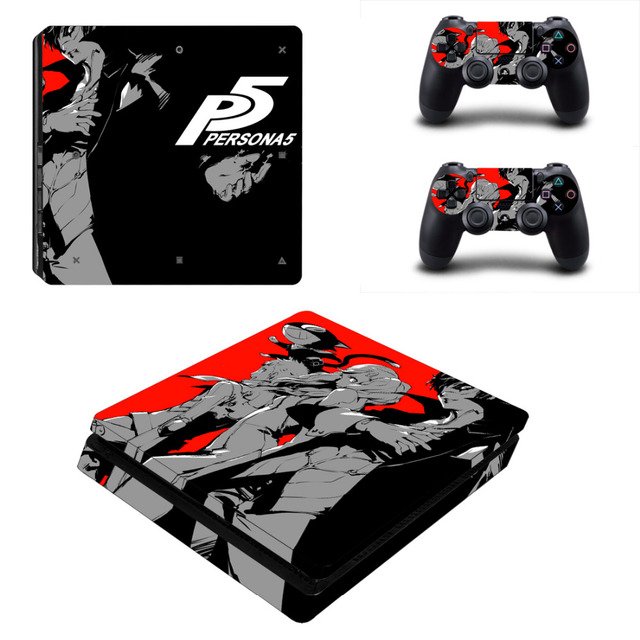 Game Persona 5 PS4 Slim Skin Sticker For Sony PlayStation 4 Console and Controller For Dualshock 4 PS4 Slim Sticker Decal