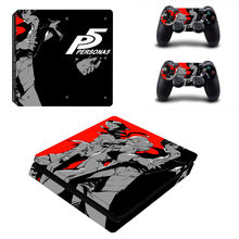 Persona 5 The Royal PS4 pegatina de piel delgada para Sony PlayStation 4 consola y controlador para Dualshock 4 pegatina de PS4 Slim calcomanía(China)