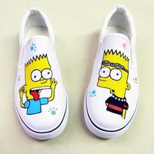 b42933de3 Menino/menina de Verão calça as Sapatilhas das Crianças Unisex Sapatas de  Lona Tenis Infantil Crianças Sapatos Pintados À Mão Do.