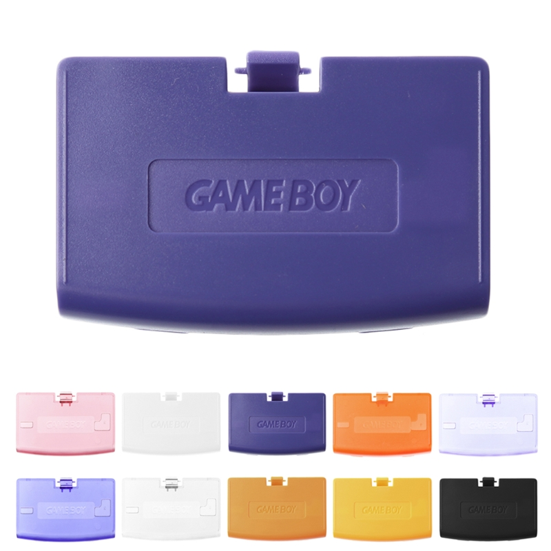 OOTDTY Battery Cover Back Door Lid Replace For Nintendo Gameboy Advance GBA Console black gamepad battery cover lid shell replacement abs battery cover door back covers for xbox one wireless controller