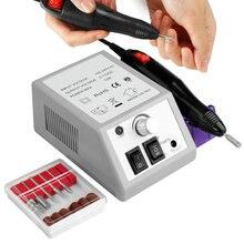Juego de puntas de taladro eléctrico para uñas, 20000RPM, fresas, removedor de cutículas de Gel, limas para manicura y pedicura