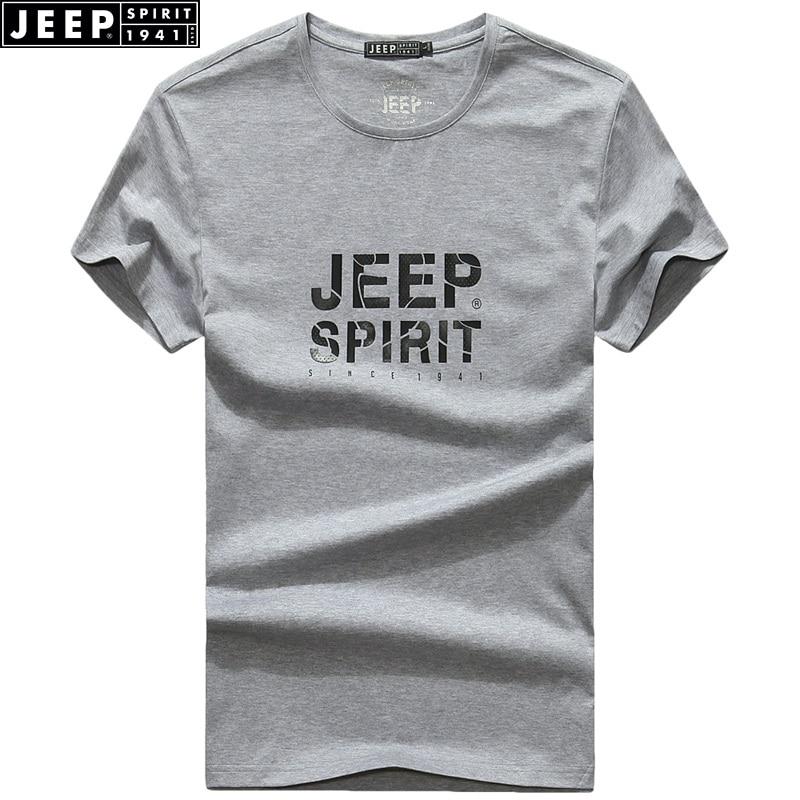 JEEP SPIRIT Märke 2018 Sommar Ny Mäns T-shirt Rund hals Kortärmad - Herrkläder