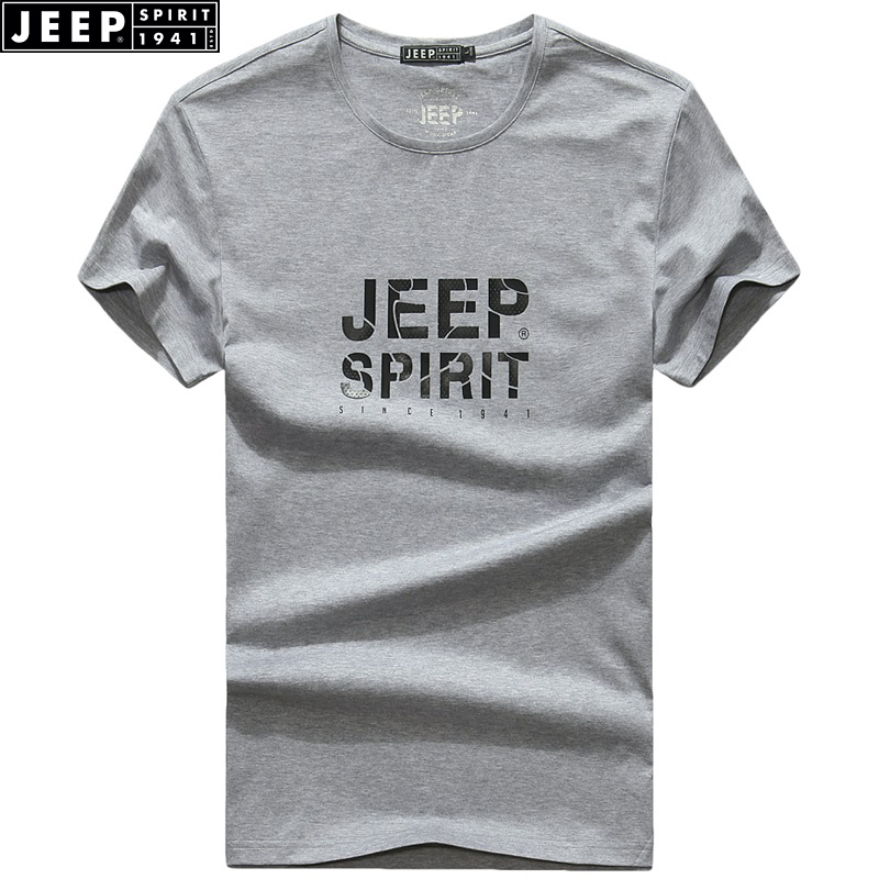JEEP SPIRIT Brand 2018 Summer New Camiseta para hombres Cuello - Ropa de hombre