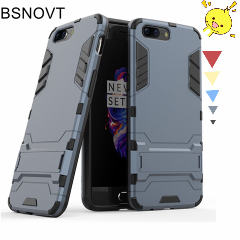 For Oneplus 5 Cover Silicone + Plastic Phone Holder Case For Oneplus 5 Bumper Phone Case Oneplus5 A5000 Phone Holder Stand Funda