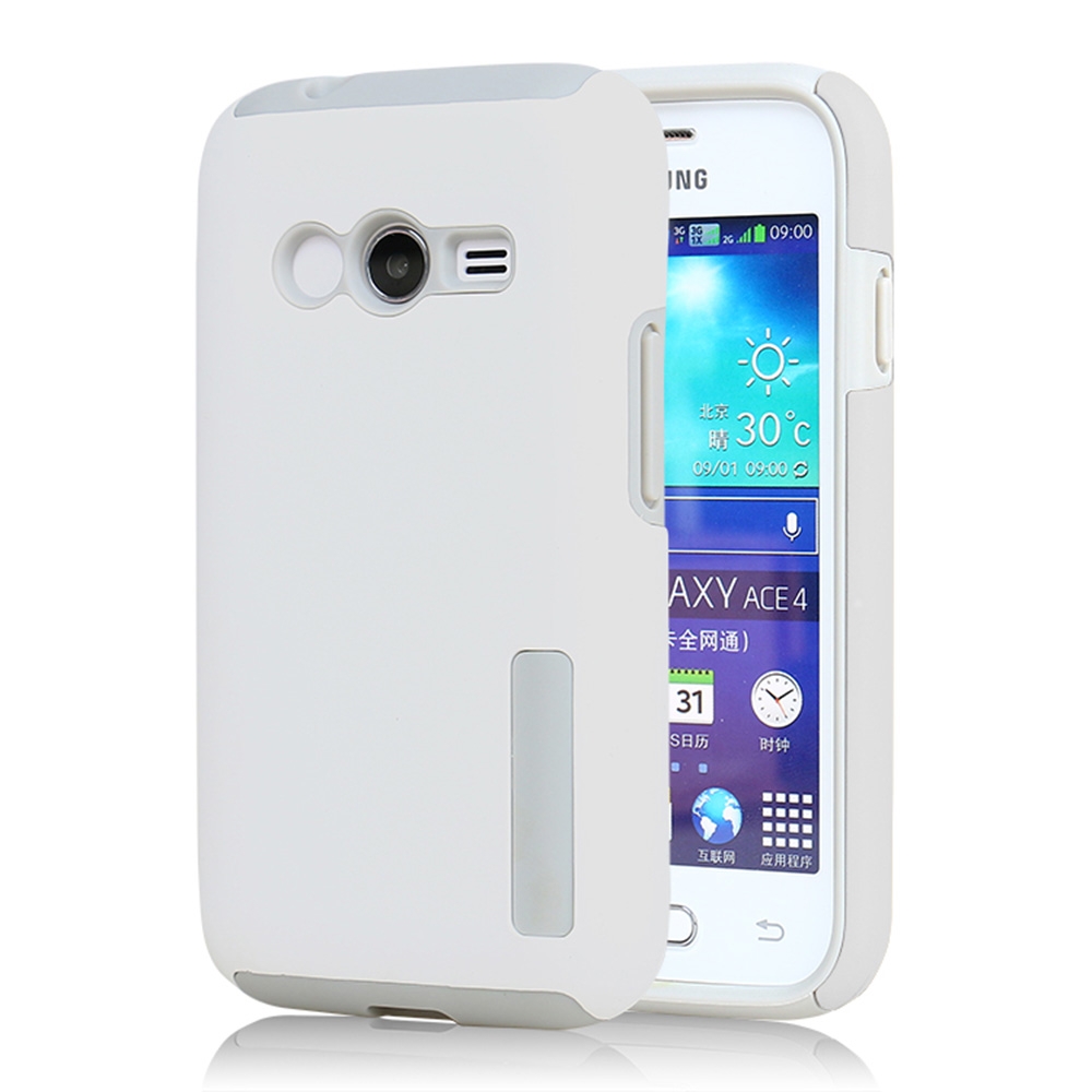Brand Tuke Case Soft Capa Tpu For Samsung Galaxy Ace 4 Lite G313 V Dual Sim Layer 2 In 1 Silicone Shockproof Cover