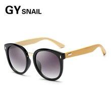 1e05f02ffb760 GY Mulheres Óculos De Sol Dos Homens de Bambu natural de madeira Do Vintage  rodada óculos de sol óculos de sol para mulheres mar.