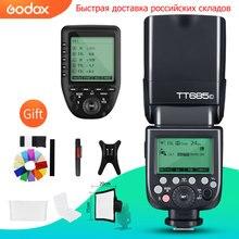 Godox TT685C TT685N TT685S TT685F TT685O TTL HSS מצלמה מבזק פלאש עם Xpro משדר עבור Canon Nikon Sony Fuji אולימפוס