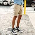 Лето 2016 Новых Людей Прибытия Шорты Повседневная Slim Fit Mid молния Fly Колен Печати Шорты Плюс Размер Бесплатная Доставка KD525