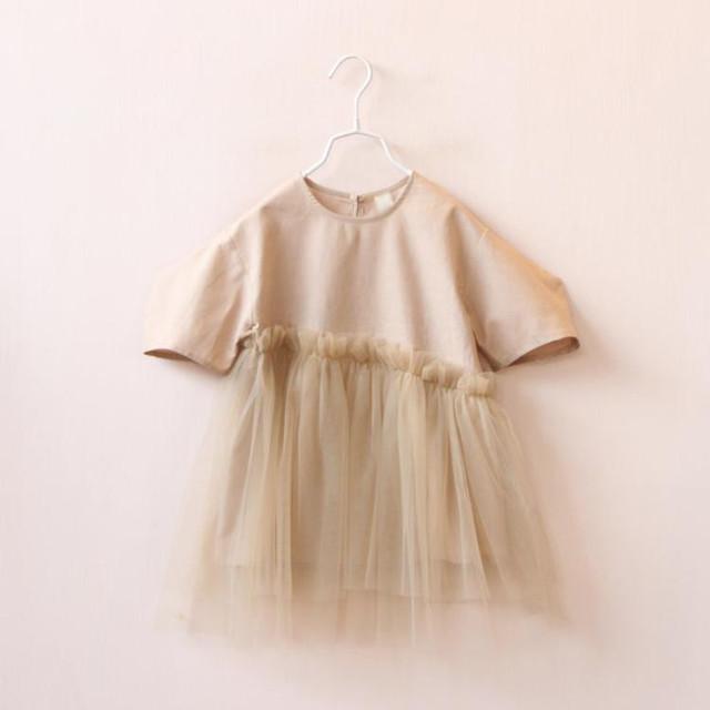 YB1621440 Retail 2016 Nova Primavera Do Bebê Meninas Vestidos de Renda Patchwork Sólidos Da Menina Da Criança Vestido de Princesa Menina Roupas Da Moda Lolita