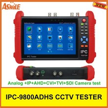 7 inch CCTV tester IP+ Analog+AHD CVI TVI Coaxial Tester / PoE power output/ HDMI out/ Built-in WIFI IPC9800ADHS