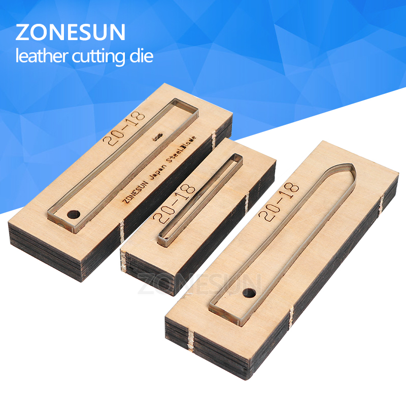 ZONESUN 20-18 Customized leather cutting die Leather DIY Craft supply watchband strap Wooden Template Punching Cutting Mould diy oval lace window embossed mould carbon steel cutting die