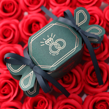 25pcs/lot Lovely Candy Box wedding box with ribbon Creative Red green paperboard gift paper bag gifts decor