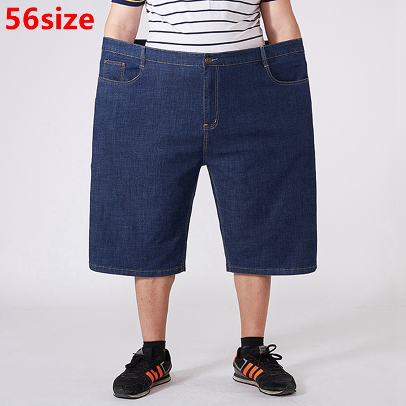 Summer Large Size Shorts Men's Business Casual Cropped Trousers Large Size Denim Shorts 48 50 52 54 56 Yards