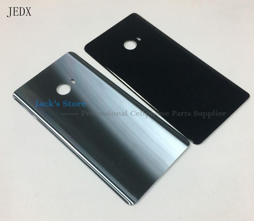 Jedx original cristal trasero de la puerta de la batería con pegamento adhesivo preinstalado para Xiao mi nota 2 teléfono caso