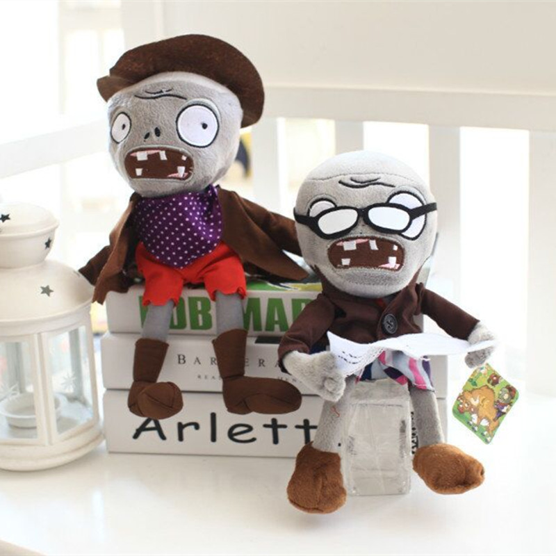 Miaoowa 1pc 30cm 9 Styles Plants vs Zombies Plush Toys Soft Stuffed Zombies Toys Doll Baby Toy for Kids Gifts Party Toys plush ocean creatures plush penguin doll cute stuffed sea simulative toys for soft baby kids birthdays gifts 32cm