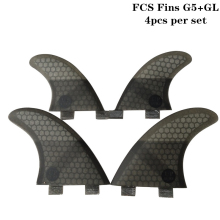 Surf Fins 2019 New FCS G5+GL in per set 4 Colors Honeycomb Upsurf logo Surfboard Quad fin sets