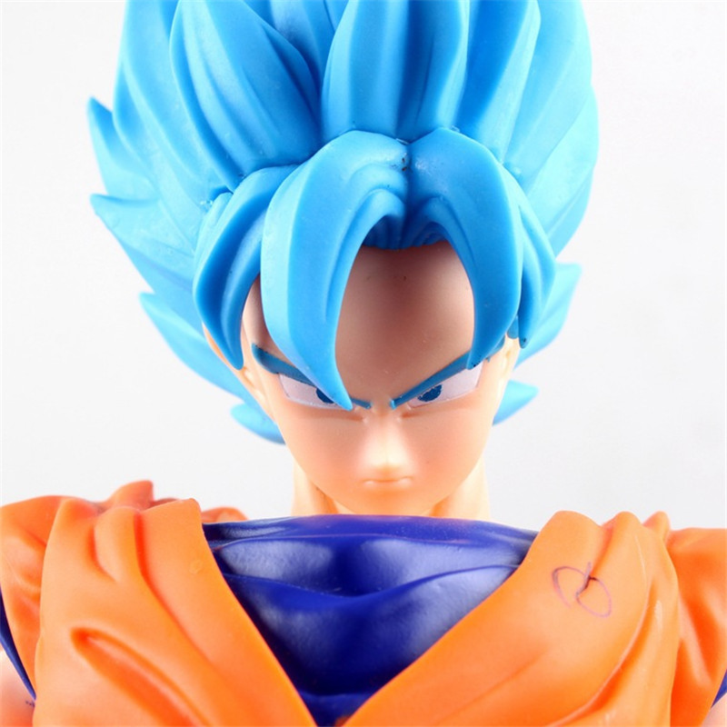 Fifth Edition! 42CM! Blue Haired! Super Saiyan Son Goku Action Figure Japan Cartoon Dragon Ball Big Size Collection BDFG6087