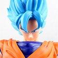 Quinta Edición! 42 CM! azul Pelo Largo! Super Saiyan Goku Figura de Acción de Japón de Dibujos Animados Dragon Ball Tamaño Grande Colección BDFG6087