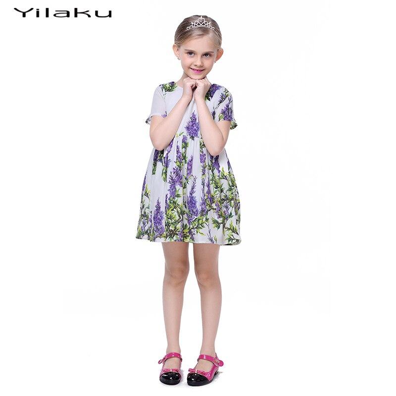 Floral Print Cute Toddler Girls Dress 2017 Summer Girls Cothes z - Ubrania dziecięce - Zdjęcie 3
