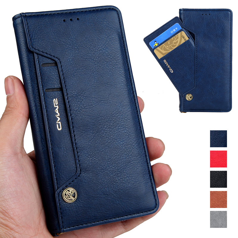 For iPhone 7 Case Luxury Magnetic Flip Wallet PU Leather Case For iPhone 6 6S 7 8 Plus X Case Full Protect With Stand Cards Slot