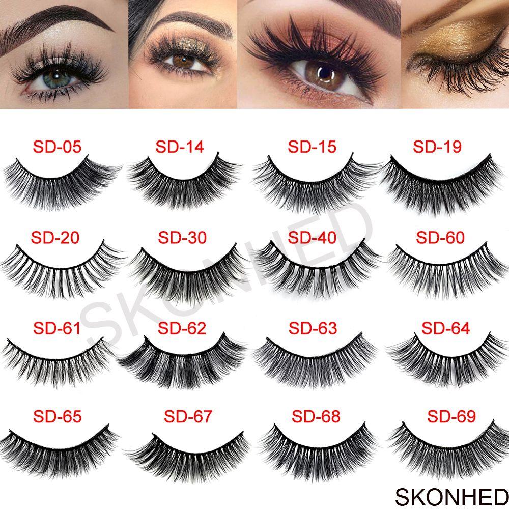 3 Pairs Natural False Eyelashes Beauty Make up Thick Cross Voluminous Messy Style Eye Lashes Extension Women Fashion Makeup Tool 1