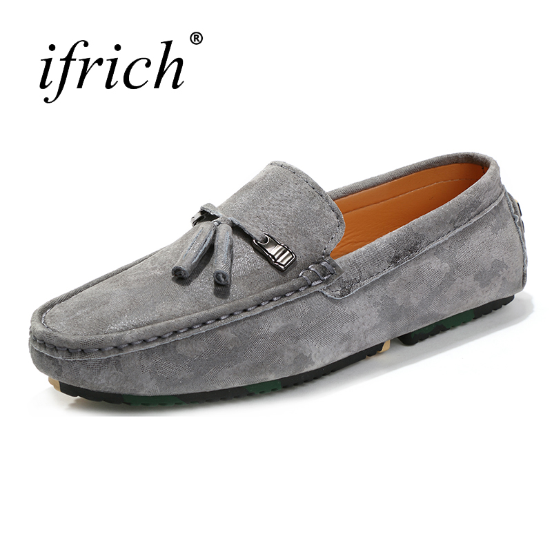 New Big Size Moccasin Men Casual Shoes Leather Men Loafers Footwear Brown Gray Luxury Sneaker for Male Mans Fashion Shoes cbjsho brand men shoes 2017 new genuine leather moccasins comfortable men loafers luxury men s flats men casual shoes