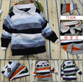 new 2015 Retail Children's casual striped sweaters brand name baby boys / girls long sleeve pullover autumn kids clothes