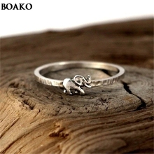 Auspicious elephant Decor Ring Vintage Animal Rings for Women Cute Elephant Rings for Lovers Wedding Gift A40