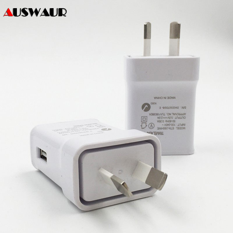 2A AU Stecker USB AC Power Wand Ladegerät Power Adapter Für Samsung Galaxy S5/<font><b>6</b></font> Rand für Apple <font><b>iphone</b></font> Australien Adapter image