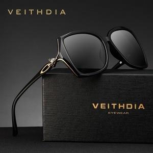 Image 2 - VEITHDIA نظارة شمسية للسيدات ذات تصميم كلاسيكي مستقطب نظارة شمسية فاخرة للسيدات V3039