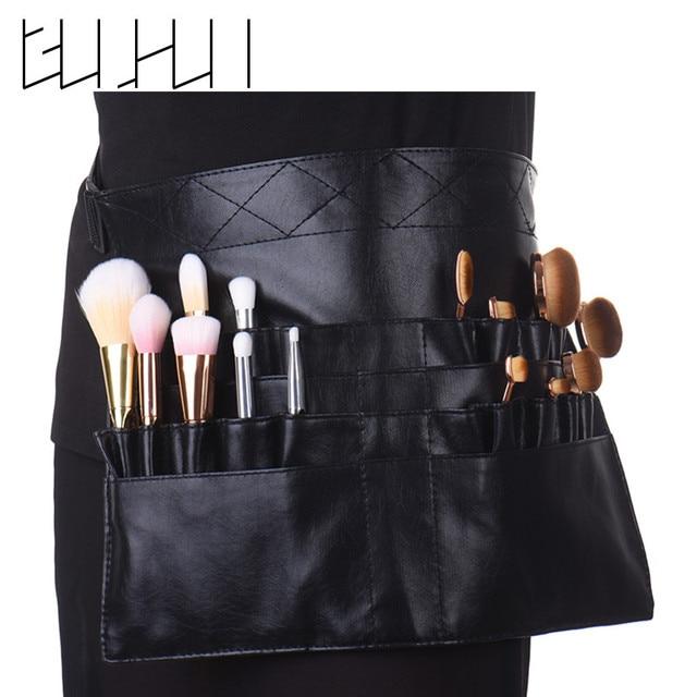 1Pcs Black Two Arrays Makeup Brush Holder Stand 24 Pockets Strap Belt Waist  Bag Salon Makeup 8c45911c70dec