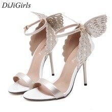 DiJiGirls newStyle femmes de haute talons Peep Toe Stiletto sandales Papillon Bowtie dames celebrity chaussures Pompes Violet Or Beige
