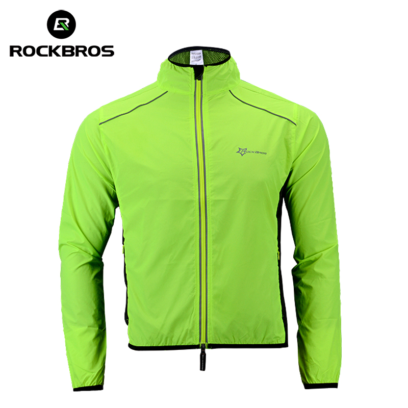 ROCKBROS Running Jacket Windproof Vest Cycling Sports Raincoat Jersey Hiking Rainproof UV Protection Quick Dry Coat Winter Men