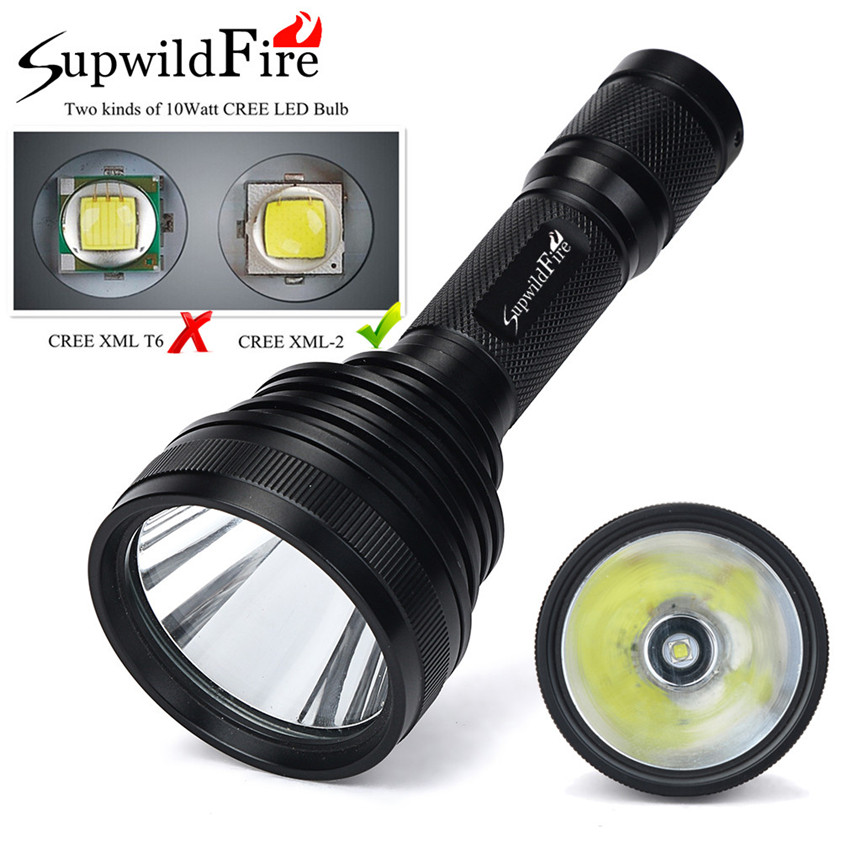 Super SupwildFire CREE XM-L2 U3 LED 5-Mode 18650 Flashlight Torch Light Lamp 8000LM 170509 950lm 3 mode white bicycle headlamp w cree xm l t6 black silver 2 x 18650