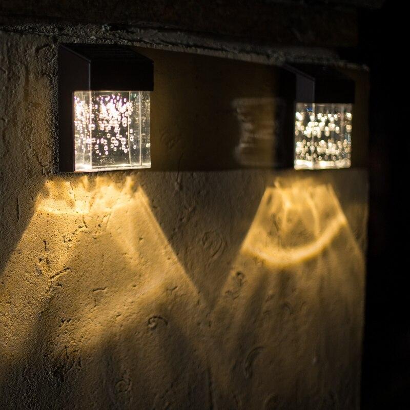 lampe exterieur solaire aluminum Acrylic Bubble LED Solar ...