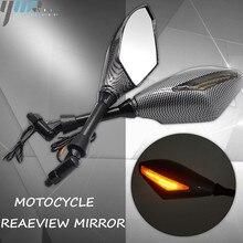 Neue Motorrad Anzeige Rearview Außenspiegel & Integrierte LED Blinker Fit Für Motorrad Straße bikes Cruiser Roller