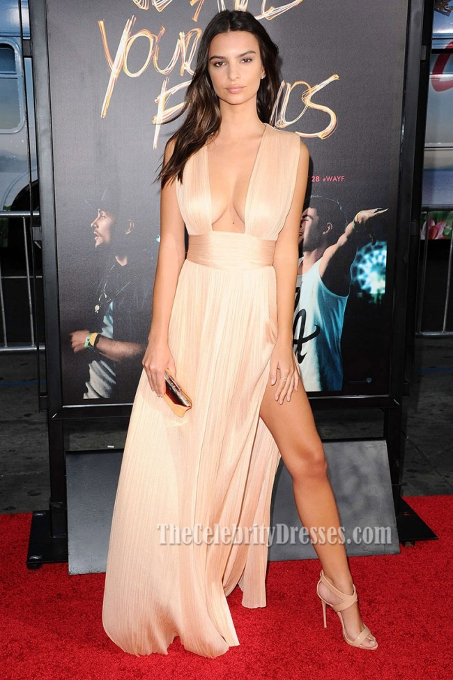emily_ratajkowski_champagne_high_slit_evening_dress_sexy_red_carpet_gown_in_we_are_your_friends_