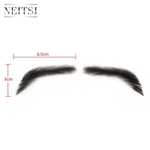 Image 4 - Neitsi For Man 100% Human Hair Remy Hair Invisible Handmade Fake Eyebrows Hand Tied False Eyebrows M1001