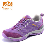 MERRTO Women Hiking Shoes Female Outdoor Mesh Breathable Sapatilhas Mountain Climbing Wear Resistant Sports Shoes For